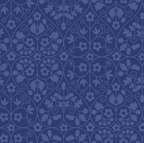 <!--7019-->Liberty Of London - Orchard Garden - Gated Shadow in Blue (X), p