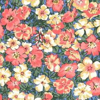 <!--7021-->Liberty Of London - Orchard Garden - Peach Bloom in Coral Pink (Y), per fat quarter