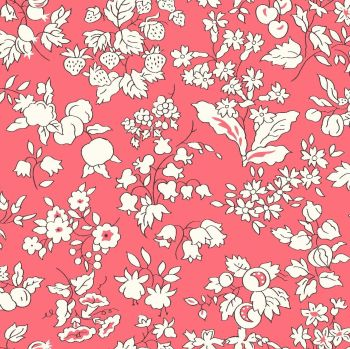 Liberty Of London - Orchard Garden -  Fruit Silouhette in Coral Pink (Y), per fat quarter