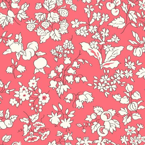 <!--7023-->Liberty Of London - Orchard Garden -  Fruit Silouette in Coral P