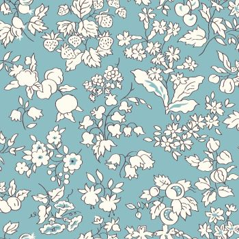 Liberty Of London - Orchard Garden -  Fruit Silouhette in Duck Egg Blue (Z), per fat quarter