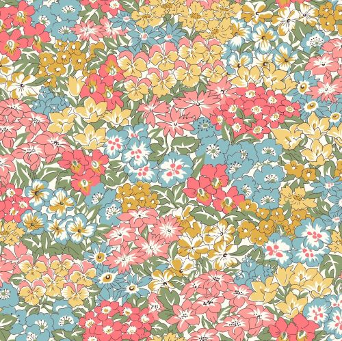 <!--7027-->Liberty Of London - Orchard Garden - Wisley Grove in Coral Pink