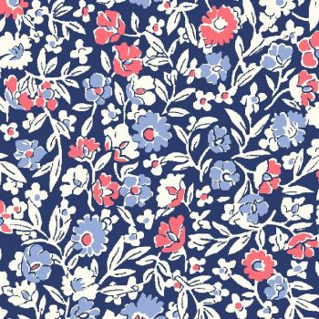 Liberty Of London - Orchard Garden - Primula Dawn in Coral Pink (Y), per fat quarter
