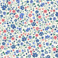 <!--7029-->Liberty Of London - Orchard Garden - Kimberley & Sarah in Coral Pink (), per fat quarter