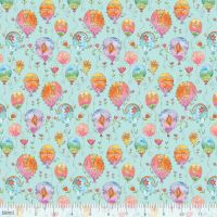 <!--5201-->Blend Fabrics - Waltz Of Whimsy - Charmed on Aqua, per fat quarter