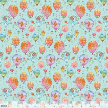 Blend Fabrics - Waltz Of Whimsy - Charmed on Aqua, per fat quarter