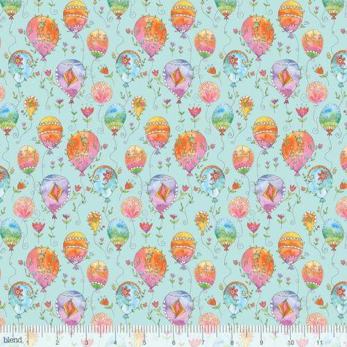 <!--5201-->Blend Fabrics - Waltz Of Whimsy - Charmed on Aqua, per fat quart