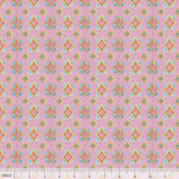 Blend Fabrics - Waltz Of Whimsy - Pixie on Pink, per fat quarter