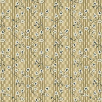 Makower UK - Blue Sky Heart Leaf in Cream, per fat quarter
