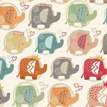 Makower UK - Ellie Cool - Elephant Cool, per fat quarter