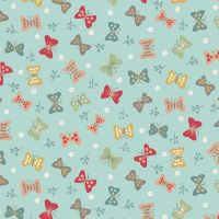 <!--3273-->Makower UK - Ellie Cool - Butterflies Cool, per fat quarter