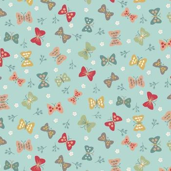 Makower UK - Ellie Cool - Butterflies Cool, per fat quarter