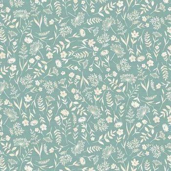Makower UK - Woodland - Scatter on Turquoise, per fat quarter