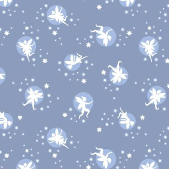 Lewis & Irene - Fairy Lights - Fairies Warm Lavender (glow in the dark detailing), per fat quarter