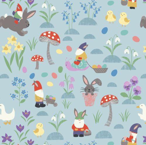 <!--4269-->Lewis & Irene - Jolly Spring - Jolly Egg Hunt on Spring Blue, pe
