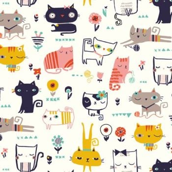Dashwood Studios - Cool Cats - Cattitude, per fat quarter