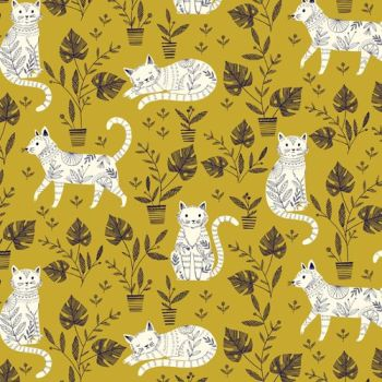 Dashwood Studios - Cool Cats - Cat Nap, per fat quarter