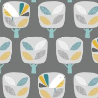 <!--5016-->Dashwood Studios - Nesting Birds - Trees, per fat quarter