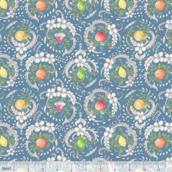 Blend Fabrics - Botanique - Georgette in Blue, per fat quarter