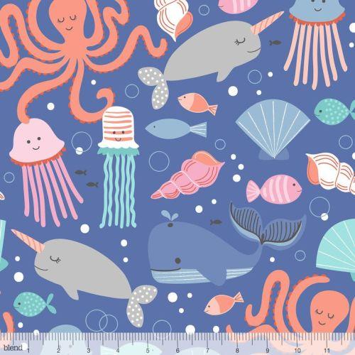 <!--5214-->Blend Fabrics - Fanta-Sea - All The Fishes, per fat quarter