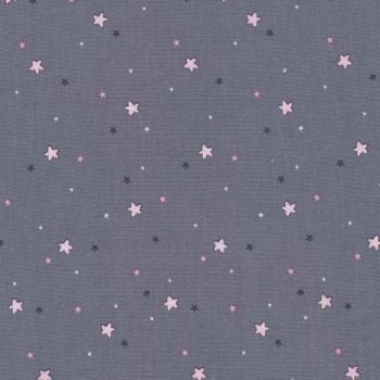 Michael Miller Fabrics - Twinkle Fairies - Little Star in Dusk Grey, per fat quarter