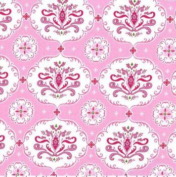 Michael Miller Fabrics - Isabella - Hayley in Pink, per fat quarter
