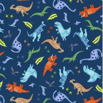 Studio E - Hear Me Roar - Dinosaur Scatter, per fat quarters