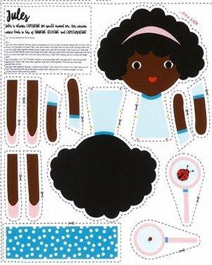 <!--5425-->Robert Kaufman - Jules Doll Panel, per panel