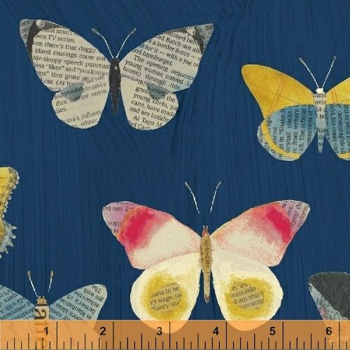 <!--5517-->Windham Fabrics - Wonder - Butterflies on Blue, per fat quarter