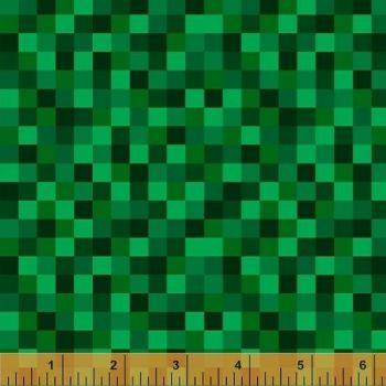 Windham Fabrics - Gemstone - Emerald Pixels, per fat quarter