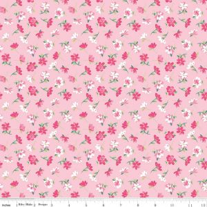 Riley Blake - Novelty Of the Month  - Pretty Flowers on Pink, per fat quarter