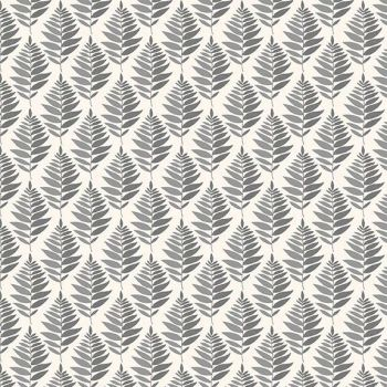Makower UK - Fern Garden - Fern Geo in  Grey, per fat quarter