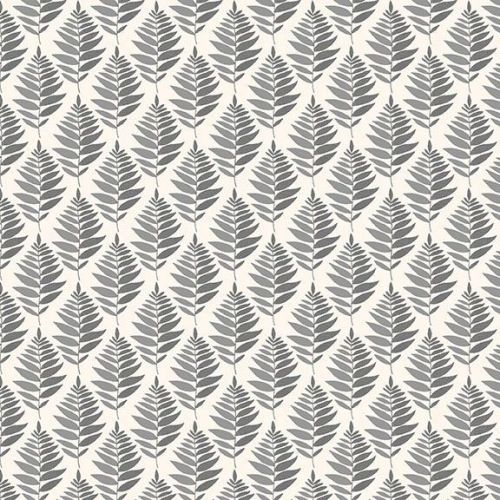<!--3296-->Makower UK - Fern Garden - Fern Geo in  Grey, per fat quarter