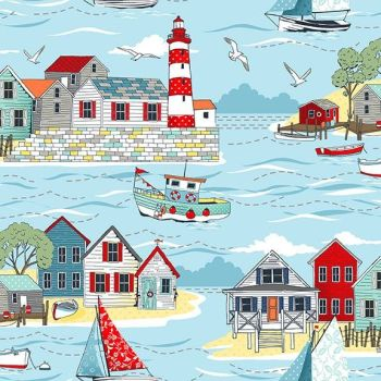 Makower UK - Sea Breeze - Scenic, per fat quarter