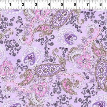 Clothworks - Cassandra - Paisley in Lilac, per fat quarter