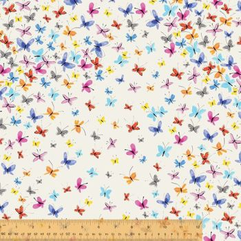 Windham Fabrics - Kaleidoscope - Butterflies on White, per fat quarter
