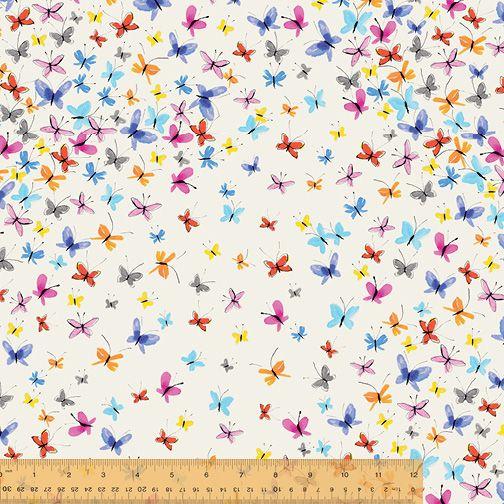 <!--5521-->Windham Fabrics - Kaleidoscope - Butterflies on White, per fat q