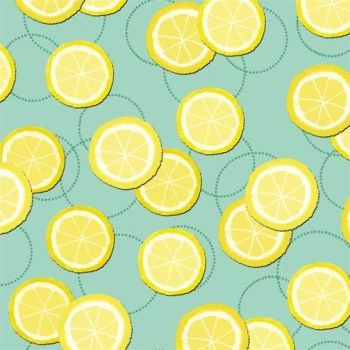 Studio E - Summerlicious - Lemons on Aqua, per fat quarter