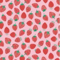 <!--5374-->Studio E - Summerlicious - Strawberries on Pink, per fat quarter