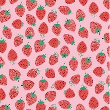 Studio E - Summerlicious - Strawberries on Pink, per fat quarter