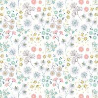 <!--4287-->Lewis & Irene - Old Harry Rocks - Old Harry Rocks flowers on cream, per fat quarter