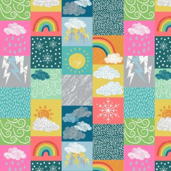 Lewis & Irene - Whatever the Weather - bright, per fat quarter