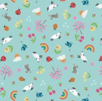 <!--4299-->Lewis & Irene - Whatever the Weather - Spring on duck egg, per fat quarter