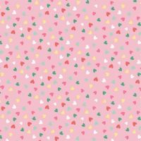 <!--5381-->Studio E - Summerlicious - Hearts allover on pink, per fat quarter