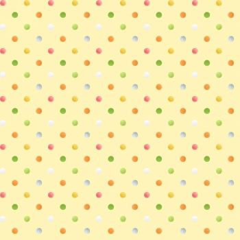 Henry Glass - Sweet Tweet & Bunnies - Multi Spot on yellow, per fat quarter