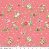 <!--5482-->Riley Blake - Vintage Keepsakes - Pink Floral, per fat quarter