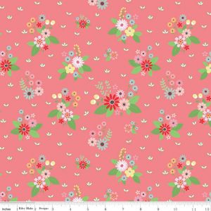 Riley Blake - Vintage Keepsakes - Pink Floral, per fat quarter