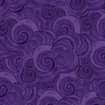Clothworks - Sea Goddess - Waves in Purple, per fat quarter