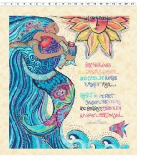 <!--4912-->Clothworks - Sea Goddess Panel (with metallic detailing), per pa
