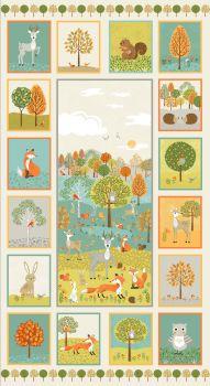 Makower UK - Forest Decorative Panel, per panel